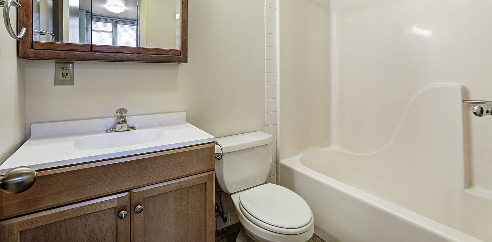 Clean bathroom at Brighton Court in Bethlehem, Pennsylvania