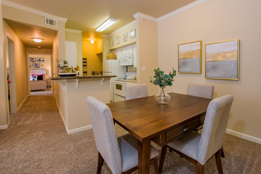 Dining table at Lexington Park Apartment Homes in North Little Rock, Arkansas