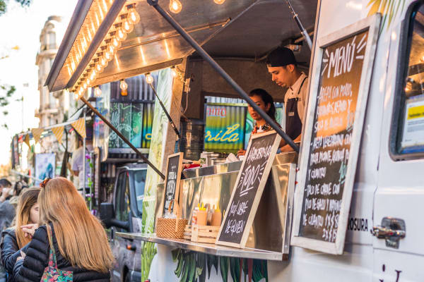Food truck near Arbor Square Apartments