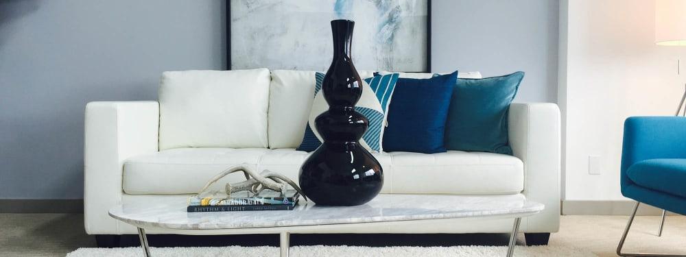 Modern furnishings at a home in Elan 41 Apartments in Seattle, Washington