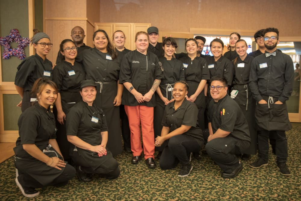 The dining team at Merrill Gardens at Renton Centre in Renton, Washington