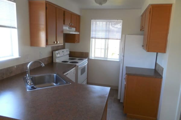 Conifer Place Apartments offers a cozy kitchen in Corvallis, Oregon