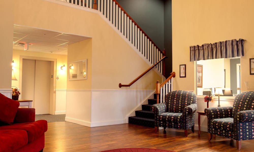 common area with a staircase at Governor's Port in Mentor, Ohio