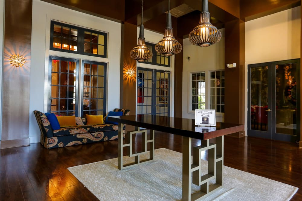 Lavish and inviting lobby interior at The Hawthorne in Jacksonville, Florida
