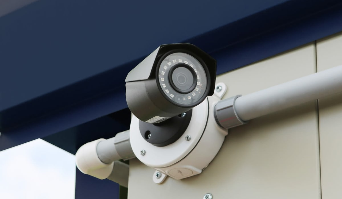 Security cameras at Clover Basin Self-Storage in Longmont, Colorado