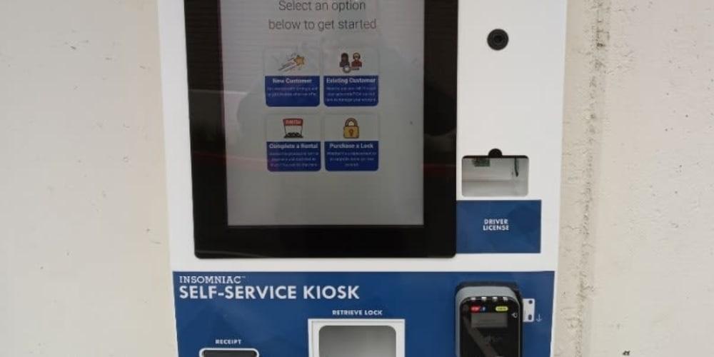 Kiosk screen at Devon Self Storage