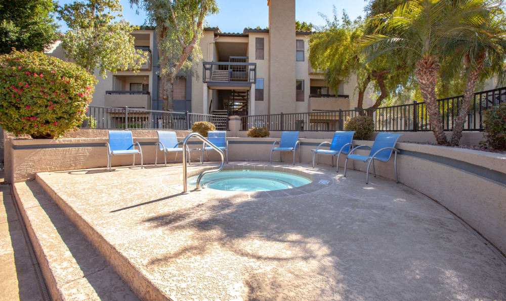 Hot tub at apartments in Tempe, Arizona