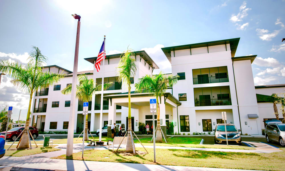 Exterior view of Keystone Place at Four Mile Cove in Cape Coral, Florida