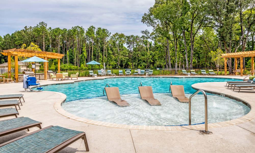 Beautiful pool at The Heyward in Charleston, South Carolina