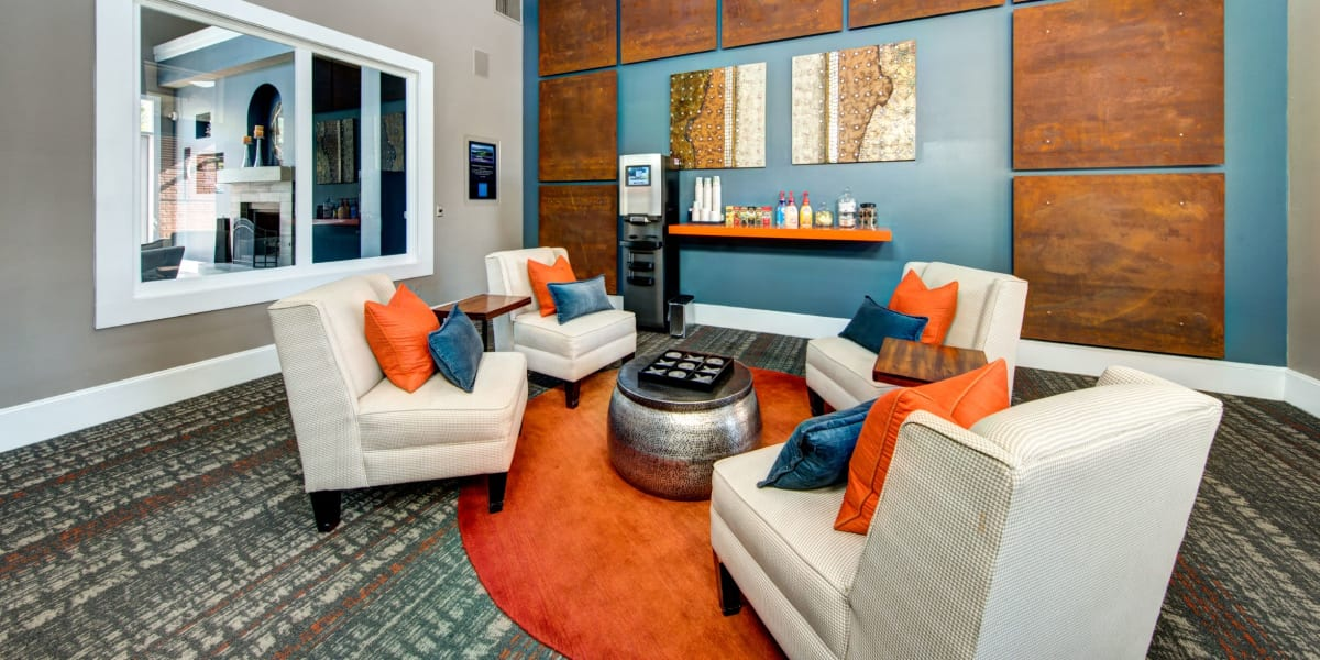 Modern lounge at Marquis on Gaston in Dallas, Texas