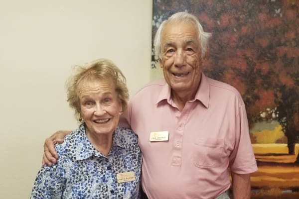 Edgar J. and Joanne E. Bourquin at The Palms at LaQuinta Gracious Retirement Living in La Quinta, California