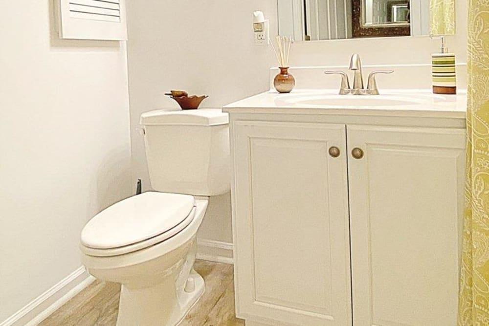 Bathroom at Glade Creek Apartments in Roanoke, Virginia