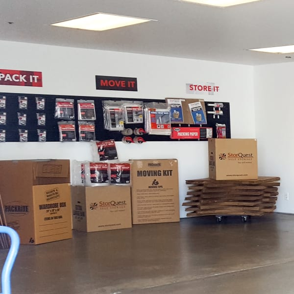 Packing supplies available at StorQuest Self Storage in Torrance, California