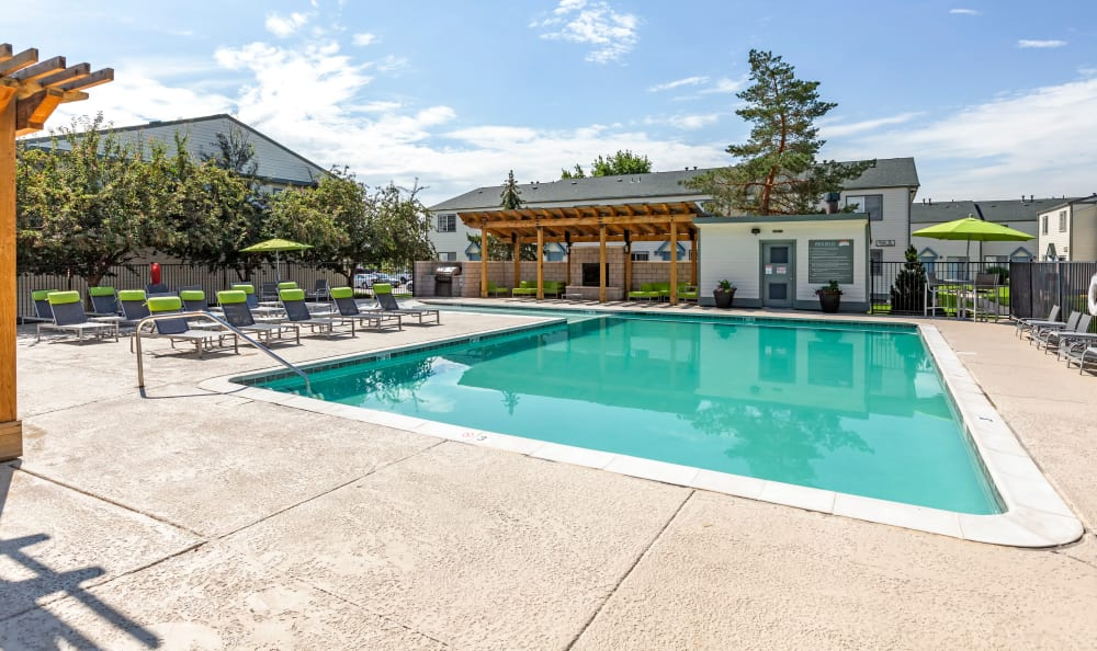 Swimming pool at Stratus Townhomes in Westminster, Colorado
