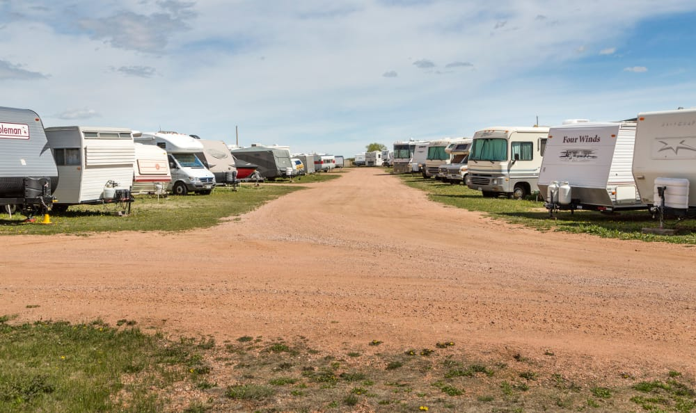 RV storage at Smart Space Self Storage - Stetson Hills in Colorado Springs, Colorado