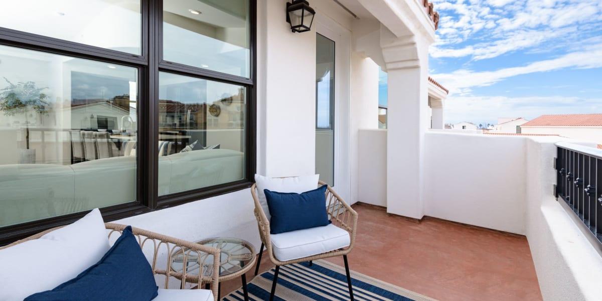 Spacious balcony at Portside Ventura Harbor in Ventura, California
