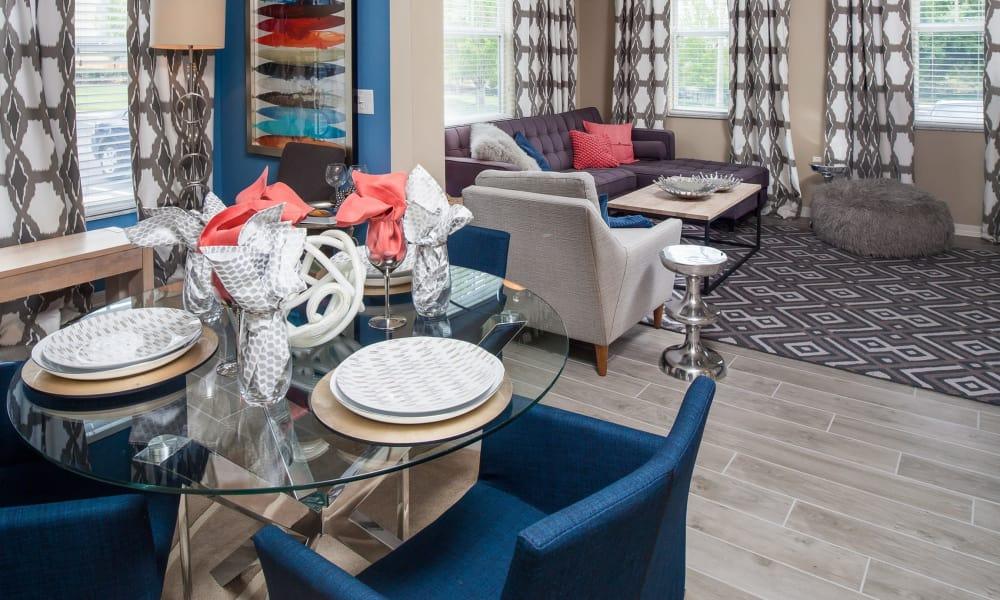 Enjoy a modern dining room at Vista at Lost Lake