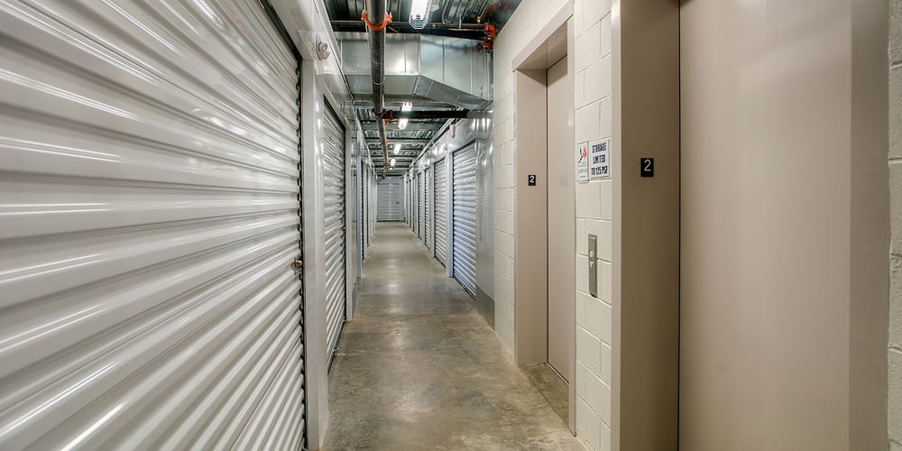 Indoor climate controlled units at StorQuest Self Storage in Clearwater, Florida