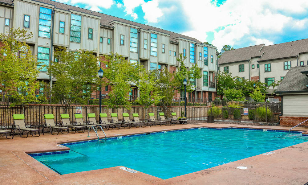 Enjoy our spacious pool at Chapel Hill North