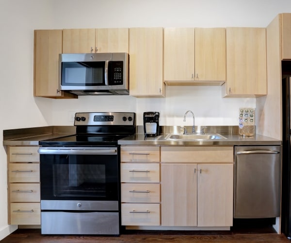 Stainless steel kitchen at The Eastland in Nashville, Tennessee