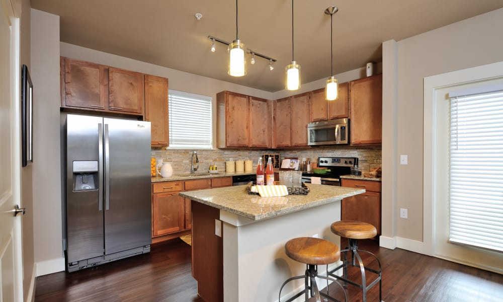 Modern kitchen at Grand Reserve Katy