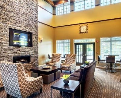 Clubhouse interior at Waterford Nevillewood Apartments in Presto