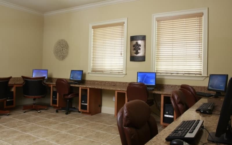 Business center at Lakeside Apartment Homes in Slidell, Louisiana