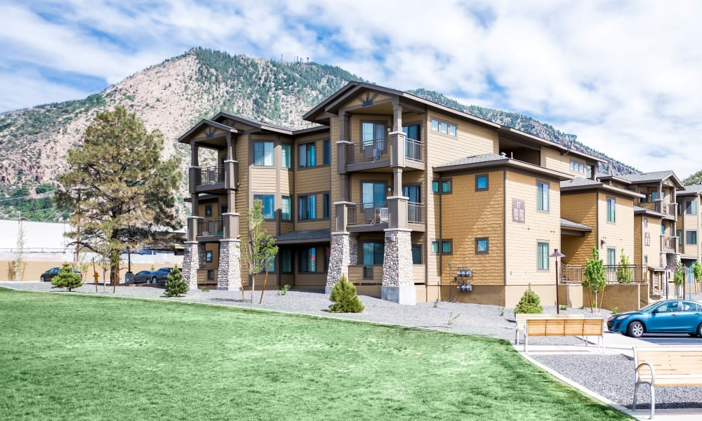 Exterior view of Elevation Apartments in Flagstaff, Arizona
