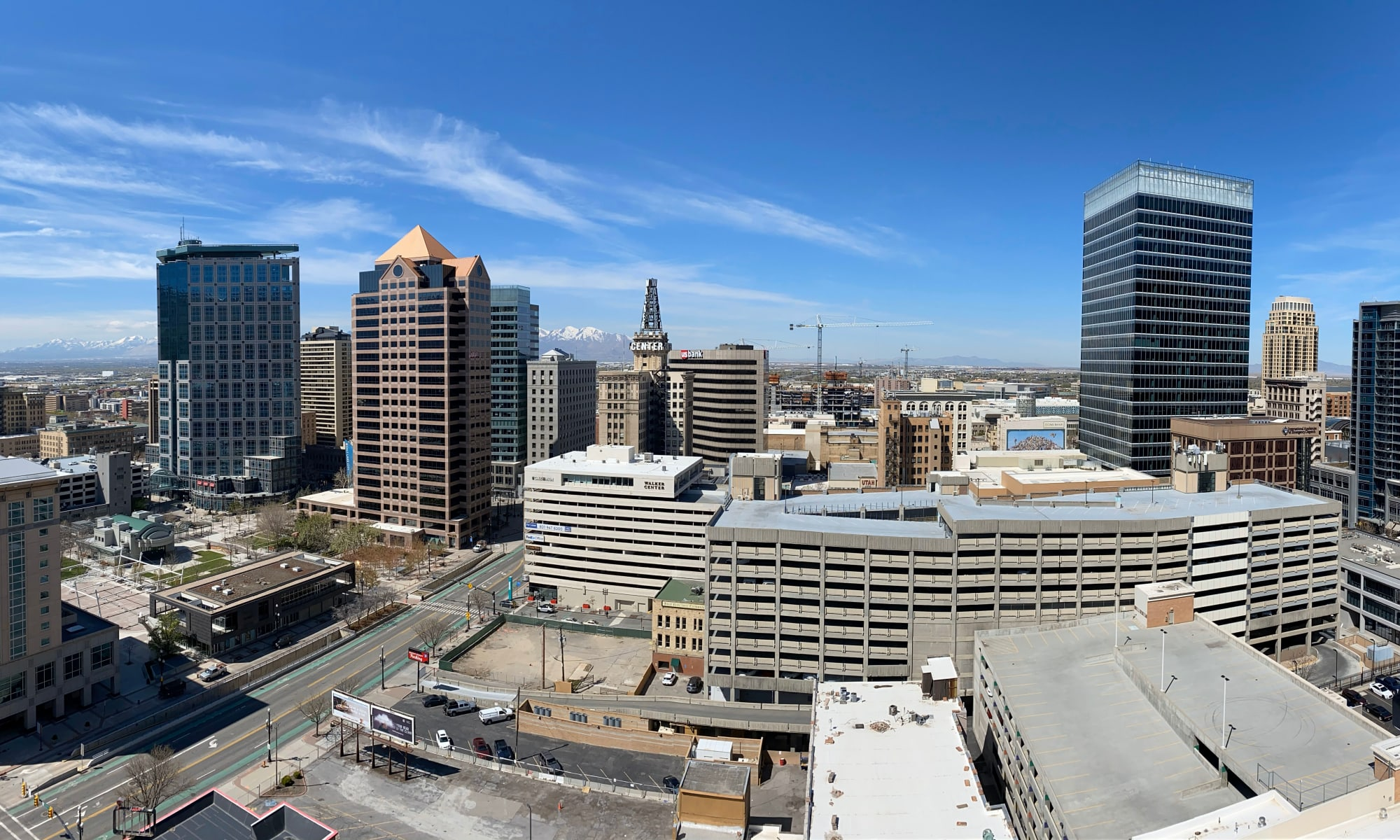 View of the city from the 18th floor of Liberty SKY in Salt Lake City, Utah