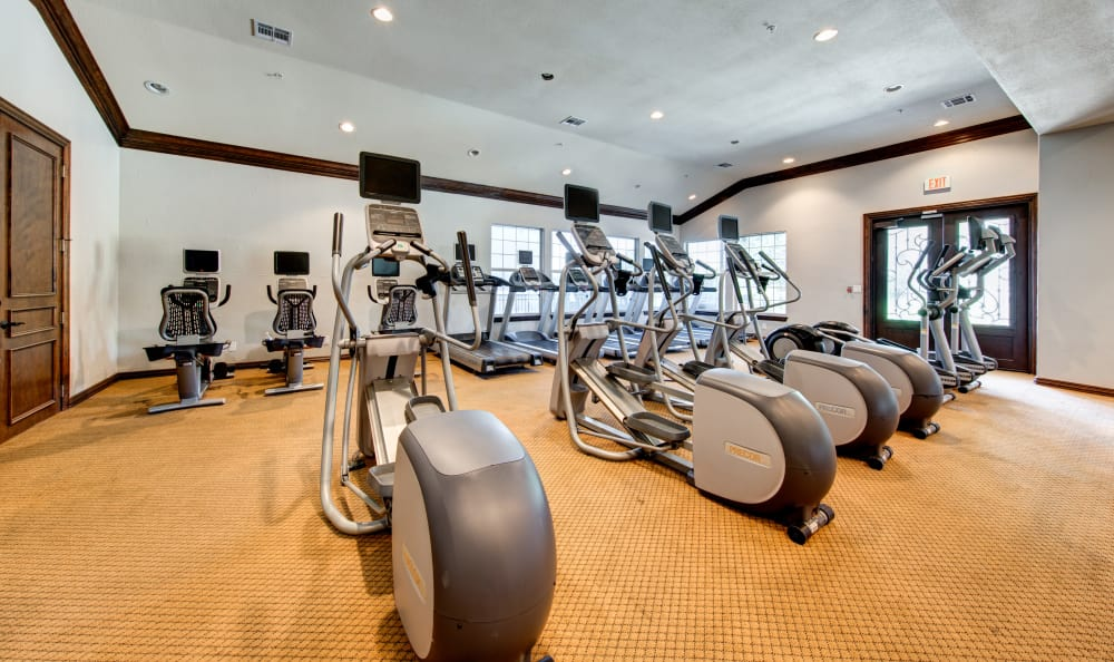 Stay healthy in our well equipped fitness center at Marquis at Stone Oak