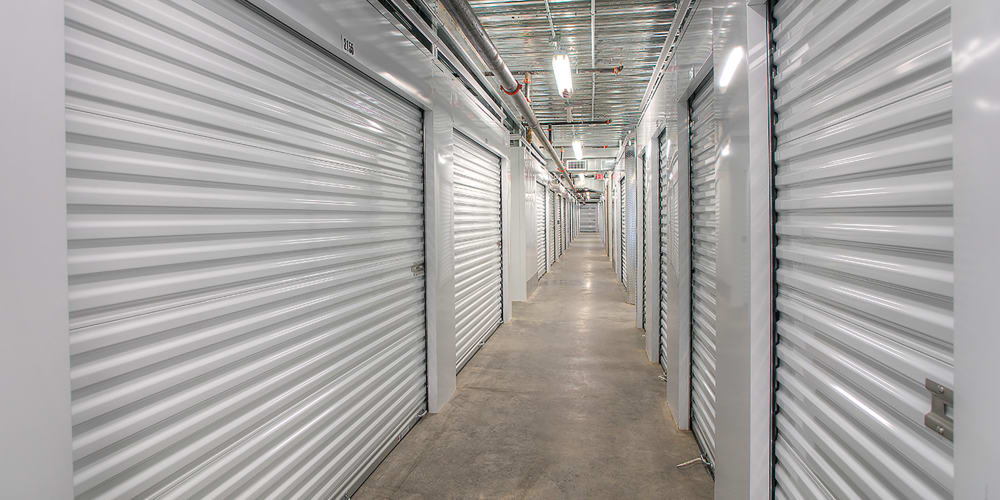 Indoor climate-controlled units at StorQuest Self Storage in Seattle, Washington