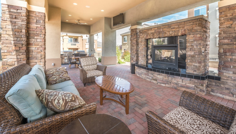 Olympus Encantada outdoor fireplace in Albuquerque, New Mexico