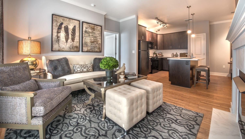 Living room at Olympus Encantada in Albuquerque, New Mexico