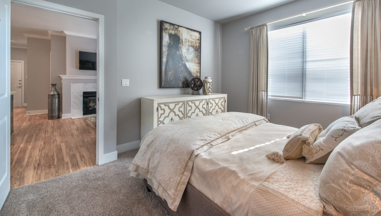 Guest bedroom at Olympus Encantada in Albuquerque, New Mexico