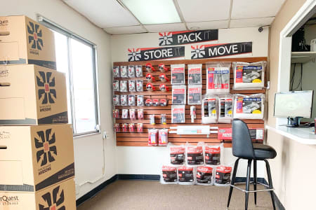 Merchandise in the Front Office At Our Lakewood Self Storage Facility