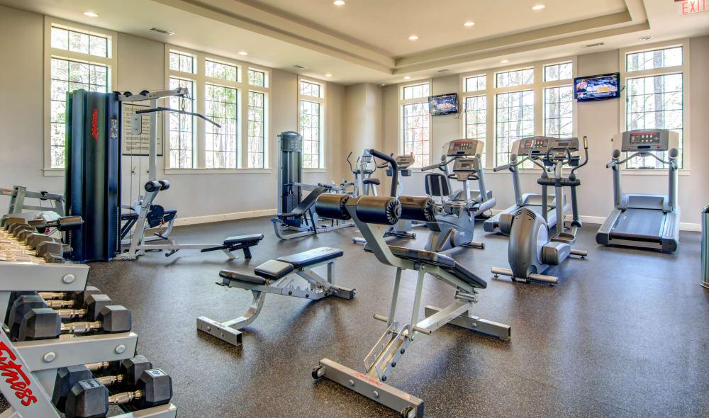 Fitness center at The Residences at Vinings Mountain in Atlanta, Georgia