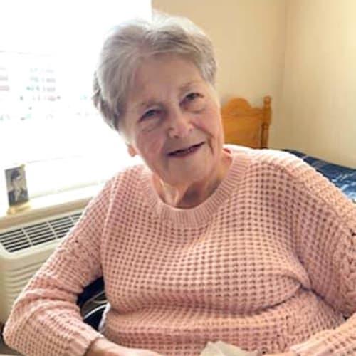 Wheelchair bound resident in her apartment at Alderbrook Village in Arkansas City, Kansas