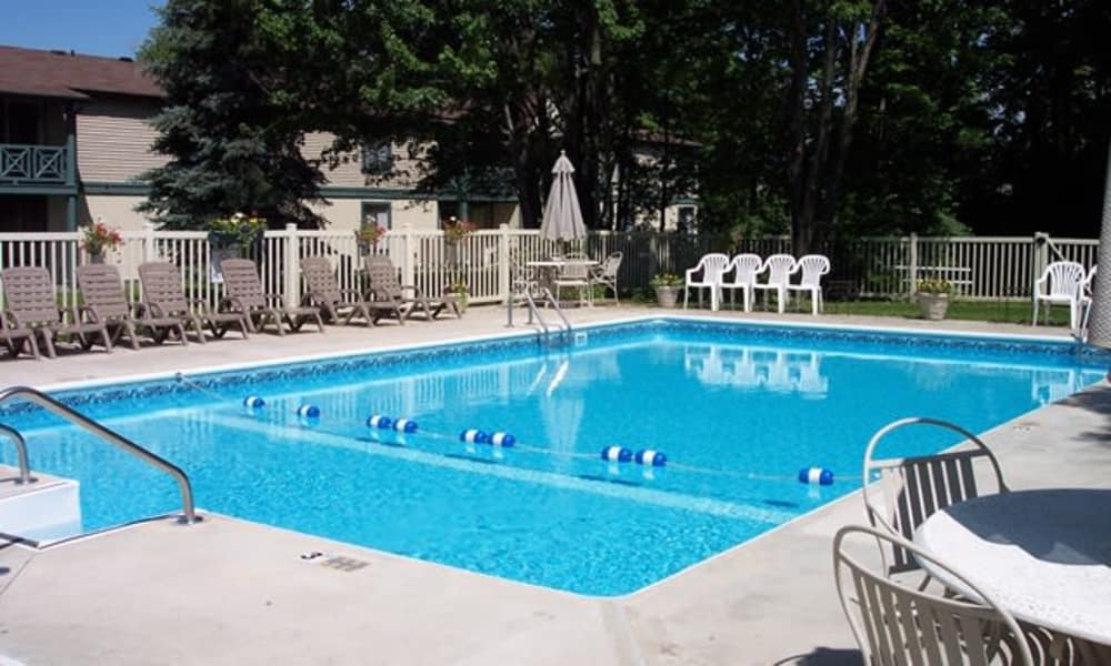 Sparkling pool at Westminster Place Apartments in Liverpool, NY