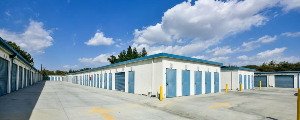 Drive up units at our storage facility on Roscoe Boulevard in North Hills