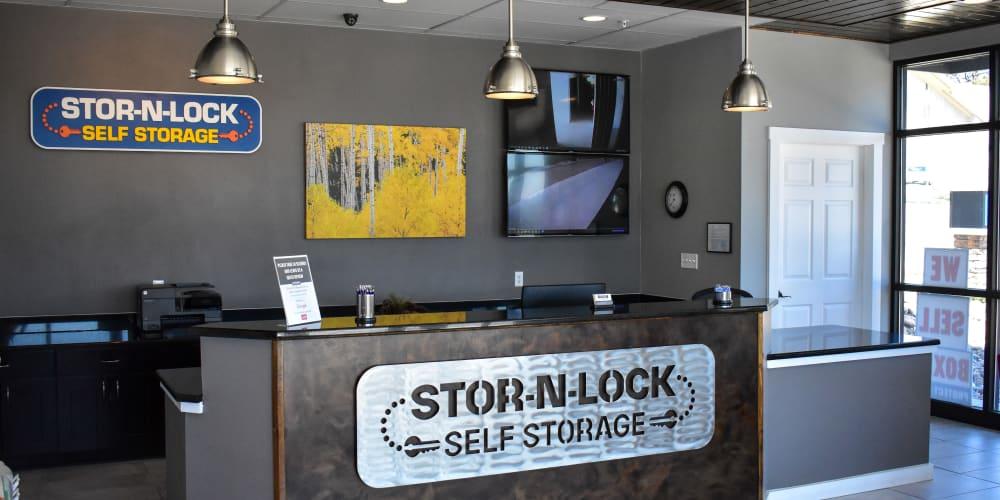 Inside the office at STOR-N-LOCK Self Storage in Colorado Springs, Colorado