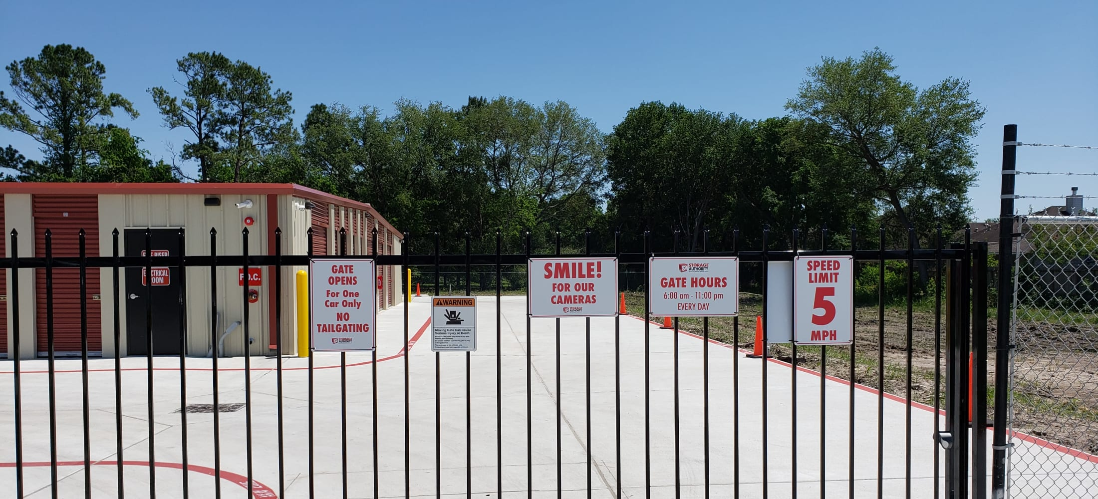 Gated entrance at Storage Authority Walters Rd in Houston, TX