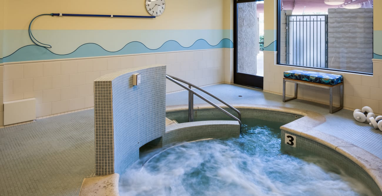Jacuzzi for our residents at The Reserve at Thousand Oaks in Thousand Oaks, California