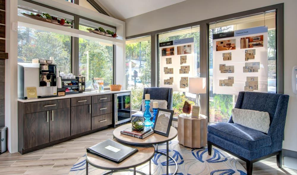 Community area at The Residences at Vinings Mountain in Atlanta, GA