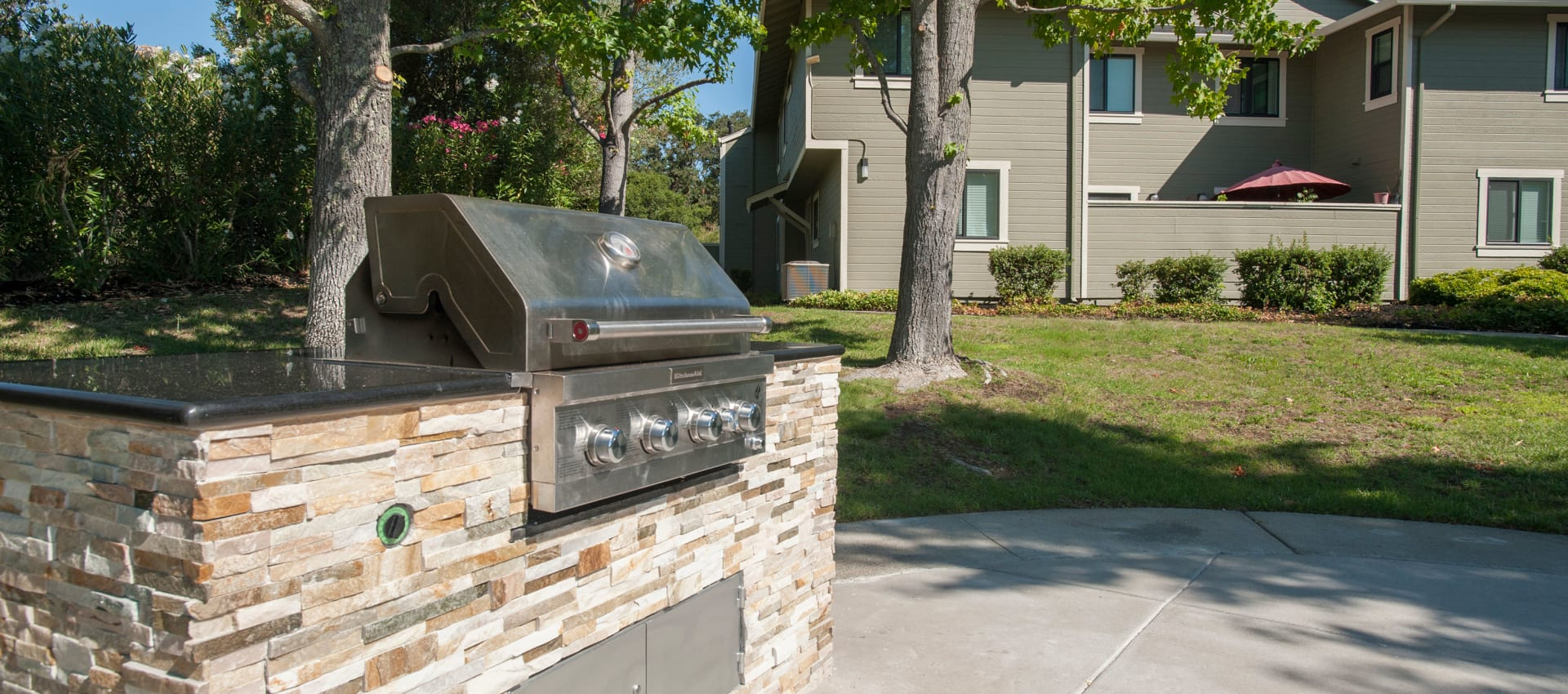 Community barbecue at Ridgecrest Apartment Homes in Martinez, California