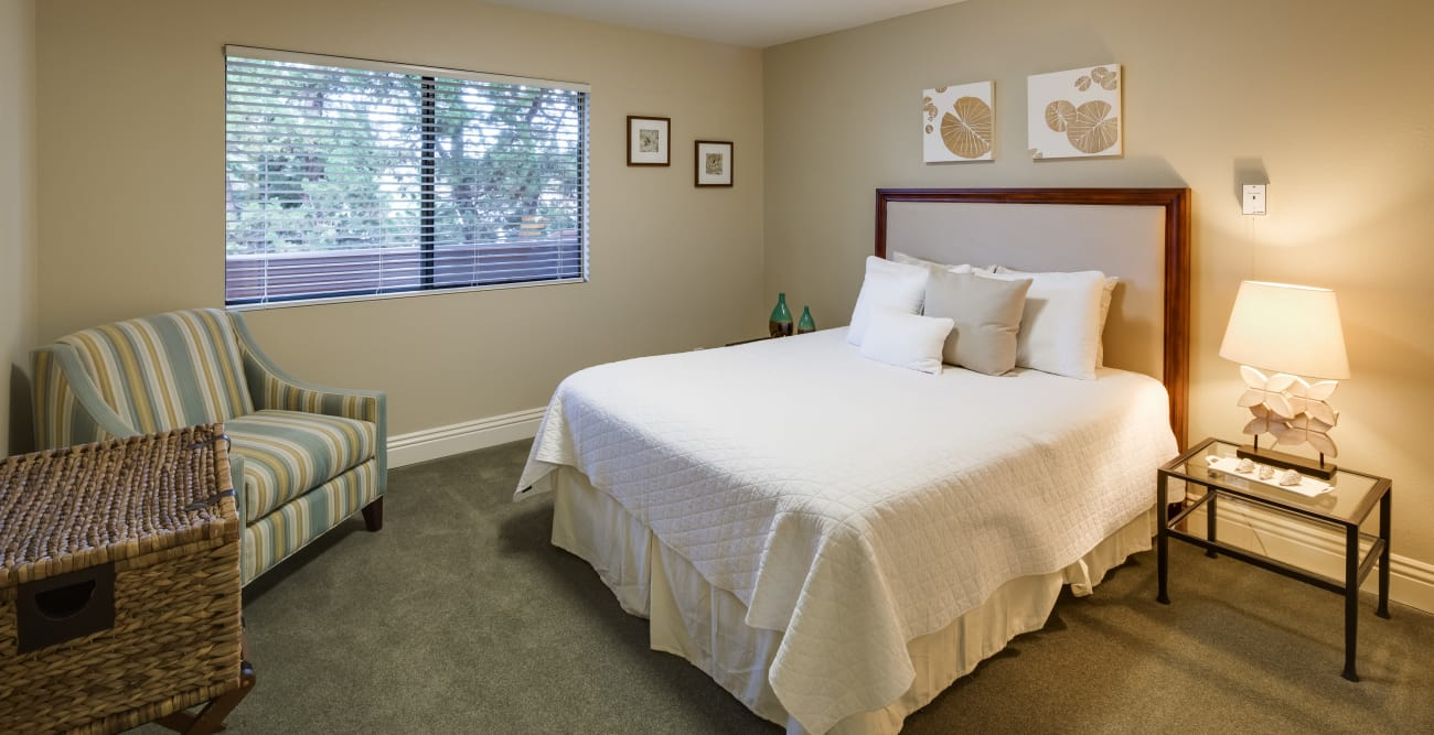 Model bedroom at The Reserve at Thousand Oaks in Thousand Oaks, California