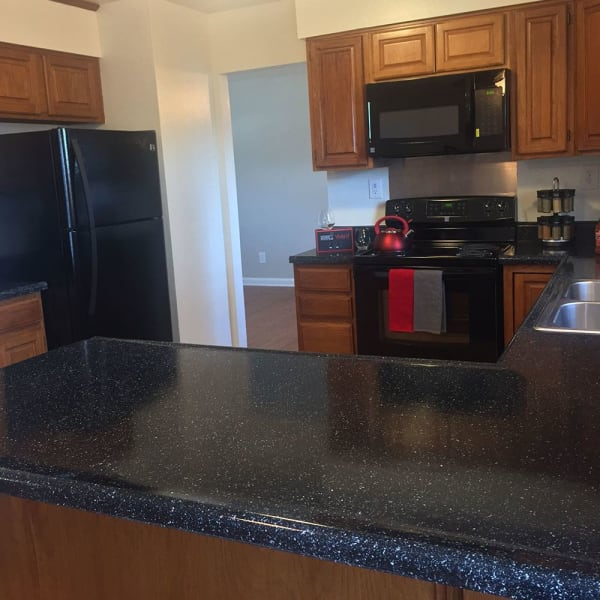 Full-equipped kitchen at Eagle Meadows Apartments in Dover