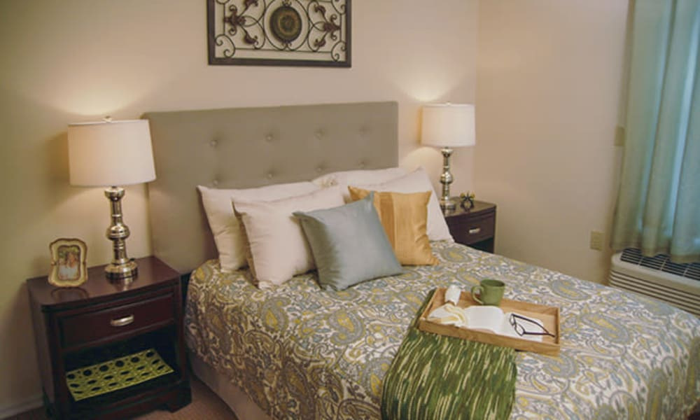 Bedroom suite at Absaroka Senior Living in Cody, Wyoming
