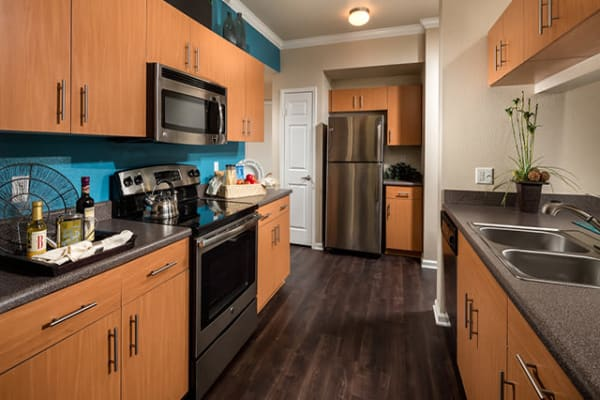Well Equipped kitchen at Links at Westridge in Valencia, CA