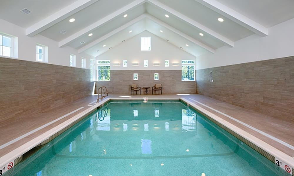 Indoor swimming pool at a Maplewood Senior Living community