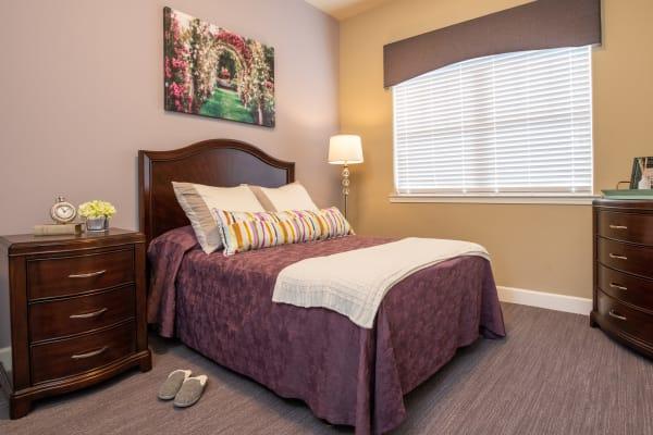 Bedroom at Rosewood Memory Care in Hillsboro, Oregon